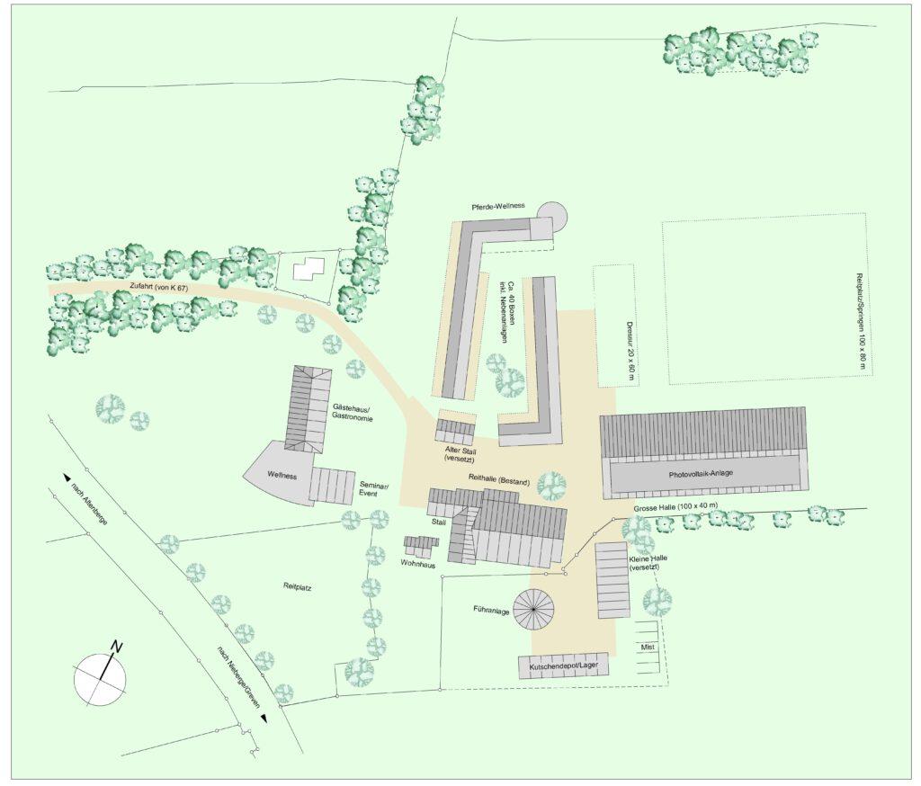 Reiterhof Lageplan XtraProjekt Altenberge